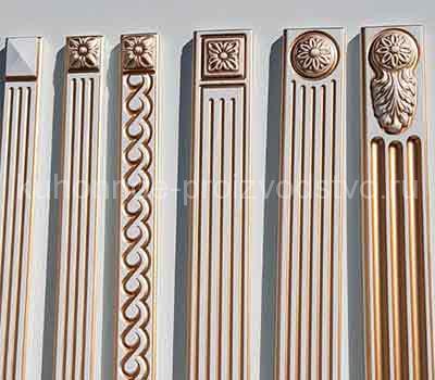 Декоративные элементы для фасадов с патиной