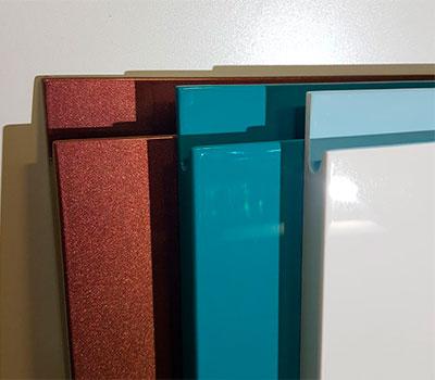 Фасады эмаль с интегрированной ручкой глянец