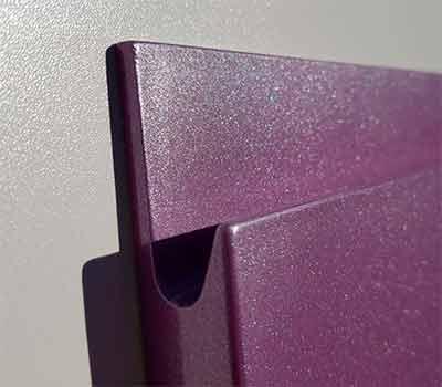 Фасады эмаль с интегрированной ручкой металлик 19 мм.