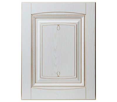 """Кухонные фасады модель """"Флоренция"""" цвет белый грунт старение золото"""