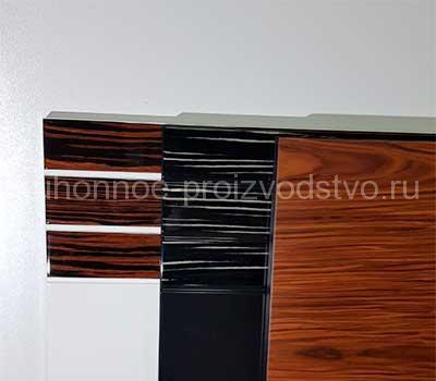Мебельные фасады эмаль со шпоном