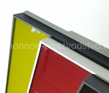 Фасады алюминиевая рамка со стеклом