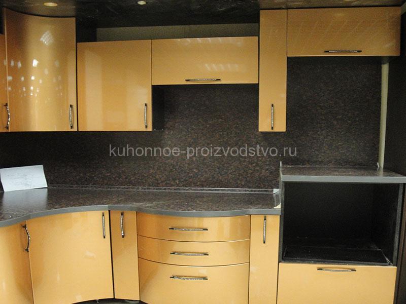 Кухни с радиусными фасадами МДФ эмаль