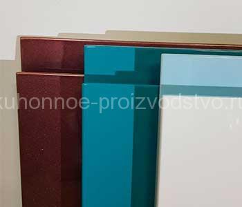 Производство мебельных фасадов эмаль с интегрированной ручкой